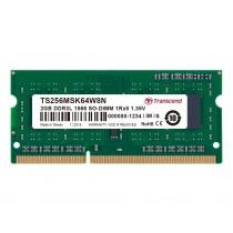 Оперативна пам'ять Transcend 2ГБ DDR3L 1866МГц CL13 1Rx8 Non-ECC Unbuffered 1.35В SODIMM (TS256MSK64W8N)