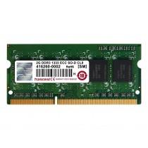 Оперативна пам'ять Transcend 2ГБ DDR3 1333МГц CL9 1Rx8 ECC Unbuffered SODIMM (TS256MSK72V3N)