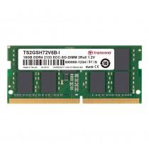 Оперативна пам'ять Transcend 16ГБ DDR4 2666МГц CL19 2Rx8 ECC Unbuffered SODIMM (TS2GSH72V6B-I)