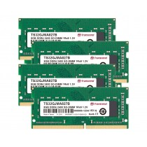 Оперативна пам'ять Transcend 32ГБ (Комплект 4x8ГБ) DDR4 2400МГц CL17 1Rx8 Non-ECC Unbuffered SODIMM (TS32GJMA827B)