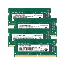 Оперативна пам'ять Transcend 32ГБ (Комплект 4x8ГБ) DDR4 2666МГц CL19 1Rx8 Non-ECC Unbuffered SODIMM (TS32GJMA828B)