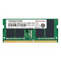 Оперативна пам'ять Transcend 32ГБ DDR4 2666МГц CL19 2Rx8 ECC Unbuffered SODIMM (TS4GSH72V6E)