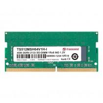 Оперативна пам'ять Transcend 4ГБ DDR4 2133МГц CL15 1Rx8 Non-ECC Unbuffered SODIMM (TS512MSH64V1H-I)