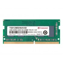 Оперативна пам'ять Transcend 4ГБ DDR4 2400МГц CL17 1Rx16 Non-ECC Unbuffered SODIMM (TS512MSH64V4D)