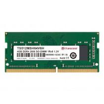 Оперативна пам'ять Transcend 4ГБ DDR4 2666МГц CL19 1Rx8 Non-ECC Unbuffered SODIMM (TS512MSH64V6H)