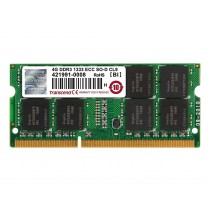 Оперативна пам'ять Transcend 4ГБ DDR3 1333МГц CL9 2Rx8 ECC Unbuffered SODIMM (TS512MSK72V3N)