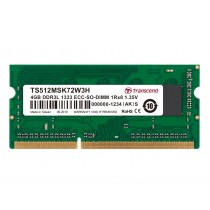 Оперативна пам'ять Transcend 4ГБ DDR3L 1333МГц CL9 1Rx8 ECC Unbuffered 1.35В SODIMM (TS512MSK72W3H)