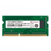 Оперативна пам'ять Transcend 4ГБ DDR3L 1333МГц CL9 1Rx8 ECC Unbuffered 1.35В SODIMM (TS512MSK72W6H-I)