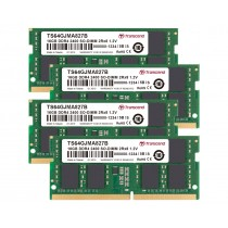 Оперативна пам'ять Transcend 64ГБ (Комплект 4x16ГБ) DDR4 2400МГц CL17 2Rx8 Non-ECC Unbuffered SODIMM (TS64GJMA827B)