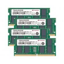 Оперативна пам'ять Transcend 64ГБ (Комплект 4x16ГБ) DDR4 2666МГц CL19 2Rx8 Non-ECC Unbuffered SODIMM (TS64GJMA828B)