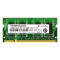 Оперативна пам'ять Transcend 256МБ DDR2 667МГц CL5 1Rx16 Non-ECC Unbuffered SODIMM (TS64MPQ32V6Q)