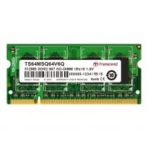 Оперативна пам'ять Transcend 512МБ DDR2 667МГц CL5 1Rx16 Non-ECC Unbuffered SODIMM (TS64MSQ64V6Q)
