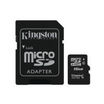 Картка пам'яті Kingston 16GB microSDHC (Class 4)  (SDC4/16GB)