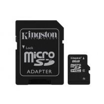 Картка пам'яті Kingston 8GB microSDHC (Class 4)  (SDC4/8GB)