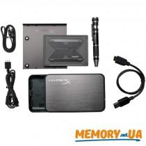 """SSD накопичувач HyperX Fury RGB 960ГБ 2.5"""" з комплектом для встановлення"""