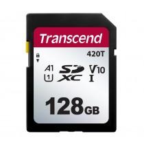 Картка пам'яті SD Transcend SDHC420T 128ГБ 95МБ/с 40МБ/с UHS-I U1 SuperMLC (TS128GSDC420T)