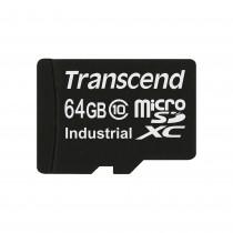 Картка пам'яті Transcend 64ГБ microSDHC Class 10 21МБ/с 15МБ/с MLC Промислового класу з широким діапазоном робочих температур (TS64GUSDC10I)