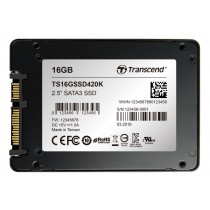 """SSD накопичувач Transcend SSD420K 16ГБ 2.5"""" 280МБ/с 55МБ/с SATA III MLC Промислового класу (TS16GSSD420K)"""