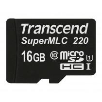 Картка пам'яті Transcend 16ГБ microSDHC UHS-I 95МБ/с 75МБ/с SuperMLC Промислового класу (TS16GUSD220I)