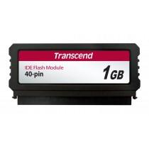Модуль флеш-пам'яті (вертикальний) Transcend 1ГБ IDE 40PIN SLC з SMI Промислового класу (TS1GPTM520)
