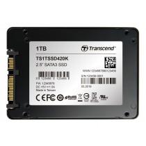 """SSD накопичувач Transcend SSD420K 1ТБ 2.5"""" 570МБ/с 470МБ/с SATA III MLC Промислового класу (TS1TSSD420K)"""