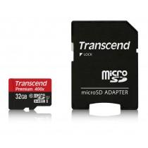 Картка пам'яті Transcend 32GB microSDHC SDHC Class 10 UHS-I 400x Premium (TS32GUSDU1)
