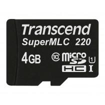 Картка пам'яті Transcend 4ГБ microSDHC UHS-I 95МБ/с 75МБ/с SuperMLC Промислового класу (TS4GUSD220I)