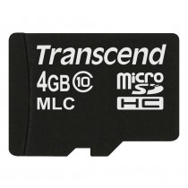 Картка пам'яті Transcend 4ГБ microSDHC Class 10 24МБ/с 22МБ/с MLC Промислового класу (TS4GUSDC10M)
