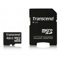 Картка пам'яті Transcend 4GB microSDHC Class 4 with adapter (TS4GUSDHC4)