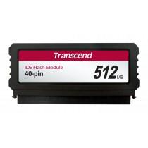 Модуль флеш-пам'яті (вертикальний) Transcend 512МБ IDE 40PIN SLC з SMI Промислового класу (TS512MPTM520)