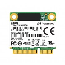SSD-накопичувач Transcend MSM360 64ГБ SATA III mSATA 520МБ/с 110МБ/с MLC (TS64GMSM360)