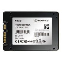 """SSD накопичувач Transcend SSD420K 64ГБ 2.5"""" 560МБ/с 110МБ/с SATA III MLC Промислового класу (TS64GSSD420K)"""