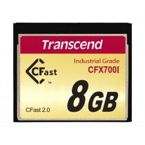 Картка пам'яті Transcend CFX700I 8ГБ CFast 2.0 700X SLC Промислового класу з широким діапазоном робочих температур (TS8GCFX700I)