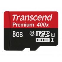 Картка пам'яті Transcend 8GB microSDHC SDHC Class 10 UHS-I 400x Premium (TS8GUSDCU1)