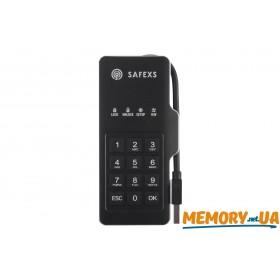 Портативний SSD накопичувач з апаратним шифруванням Safexs Firebolt 120ГБ USB 3.0 (SXSFB-120GB)