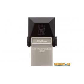 Флеш-накопичувач Kingston 64ГБ DT MicroDuo USB 3.0 + microUSB (Android/OTG) (DTDUO3/64GB)
