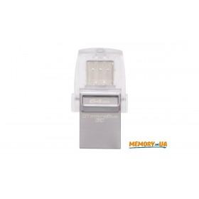 Флеш-накопичувач Kingston 64ГБ USB 3.1 DataTraveler microDuo 3C (DTDUO3C/64GB)