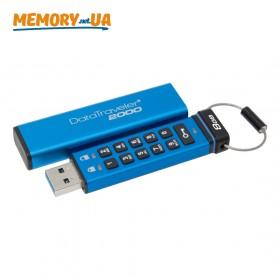 Флеш накопичувач з апаратним шифруванням Kingston DataTraveler 2000 8ГБ (DT2000/8GB)