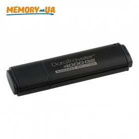 Флеш накопичувач з апаратним шифруванням і віддаленим керуванням Kingston DataTraveler 4000G2 32ГБ (DT4000G2DM/32GB)