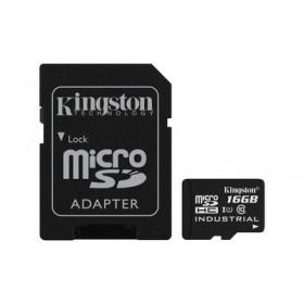 Картка пам'яті Kingston 16ГБ microSDHC Class 10 UHS-I Промислового класу з SD адаптером (SDCIT/16GB)