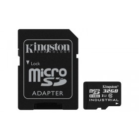 Картка пам'яті Kingston 32ГБ microSDHC Class 10 UHS-I Промислового класу з SD адаптером (SDCIT/32GB)
