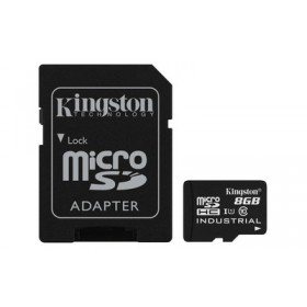 Картка пам'яті Kingston 8ГБ microSDHC Class 10 UHS-I Промислового класу з SD адаптером (SDCIT/8GB)