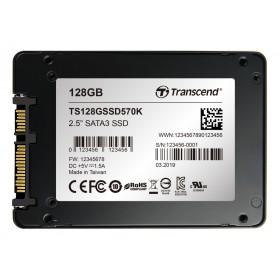 """SSD накопичувач Transcend SSD570K 128ГБ 2.5"""" 565МБ/с 465МБ/с SATA III SLC Промислового класу (TS128GSSD570K)"""