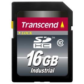 Картка пам'яті Transcend 16ГБ SDHC Class 10 22МБ/с 18МБ/с MLC Промислового класу з широким діапазоном робочих температур (TS16GSDHC10I)