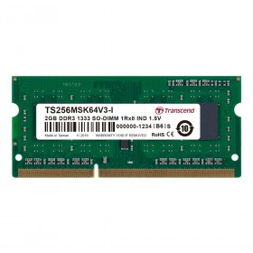 Оперативна пам'ять для ноутбуку DDR3 SODIMM 2ГБ 1333МГц Промислового класу (TS256MSK64V3N-I)