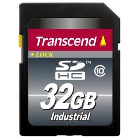 Картка пам'яті Transcend 32ГБ SDHC Class 10 22МБ/с 18МБ/с MLC Промислового класу з широким діапазоном робочих температур (TS32GSDHC10I)
