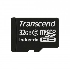 Картка пам'яті Transcend 32ГБ microSDHC Class 10 21МБ/с 15МБ/с MLC Промислового класу з широким діапазоном робочих температур (TS32GUSDC10I)