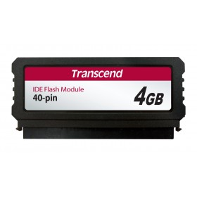 Модуль флеш-пам'яті (вертикальний) Transcend 4ГБ IDE 40PIN SLC з SMI Промислового класу (TS4GPTM520)