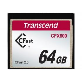 Картка пам'яті Transcend CFX600 64ГБ CFast 2.0 600X MLC Промислового класу (TS64GCFX600)