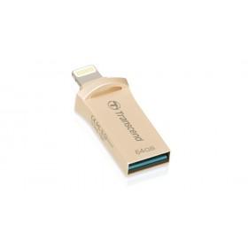 Флеш-накопичувач Transcend 64GB Lightning/USB 3.1 JetDrive Go 500 Gold (TS64GJDG500G)